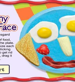Crea una cara con la comida