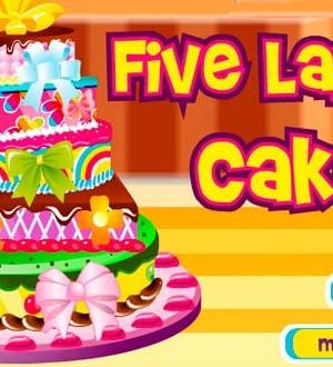 Decora este bonito pastel