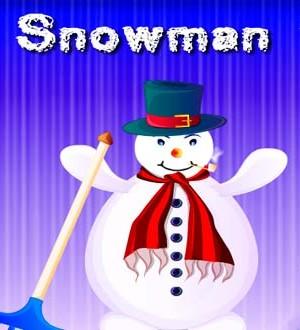 Divertido muñeco de nieve