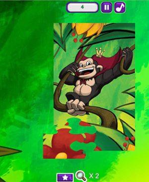 Puzzle monos para niños y niñas